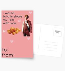 Napoleon Dynamite Tater Tots Valentine Card Funny Postcards