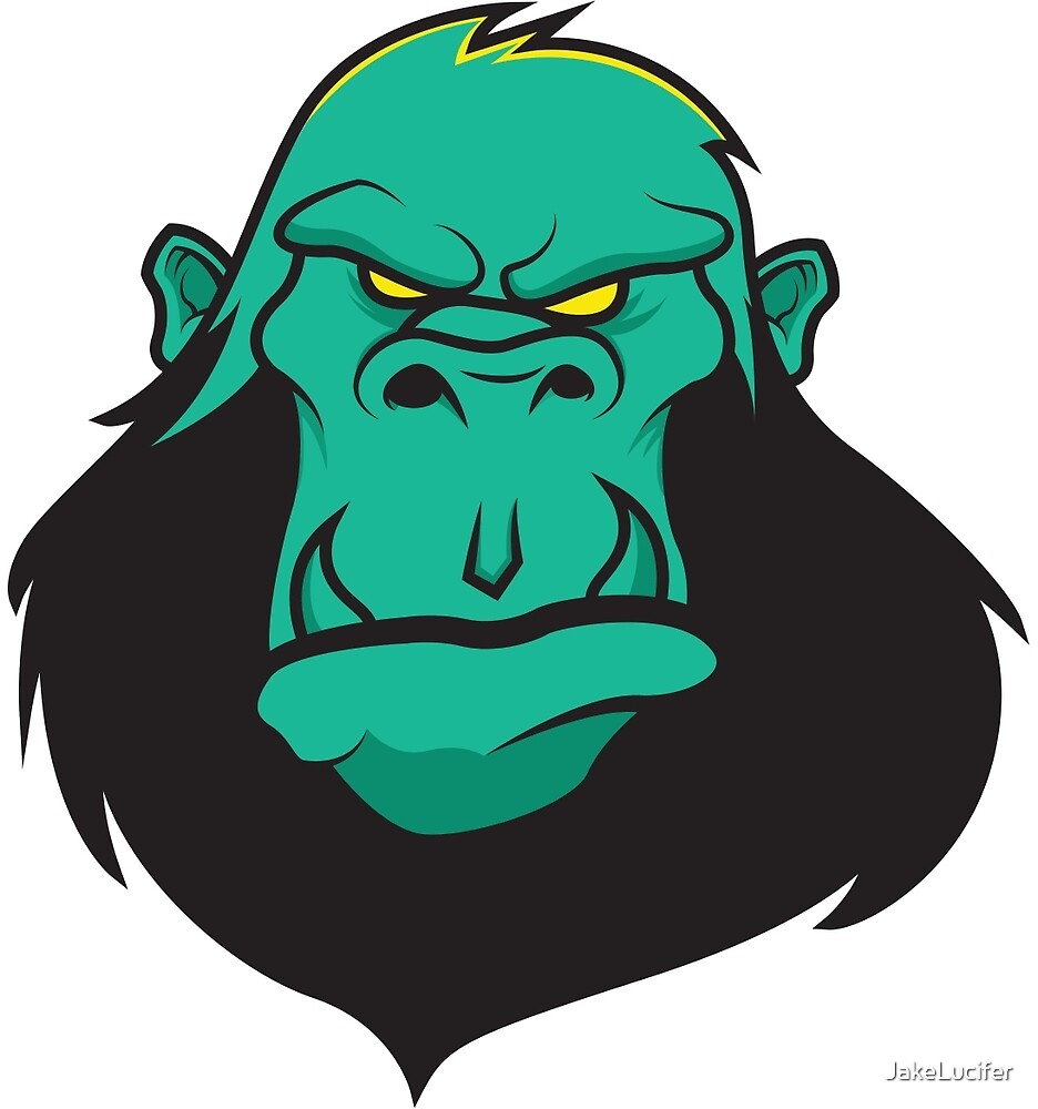 Gorilla Sticker by JakeLucifer