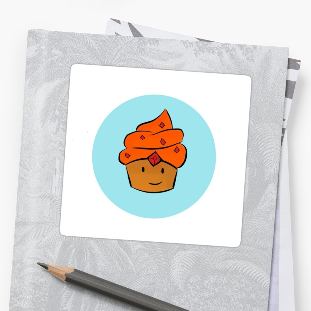 Flame Prince Cupcake Sticker by sanjuiceart