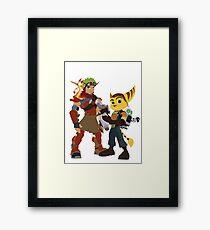 A Boy and His Lombax Framed Print