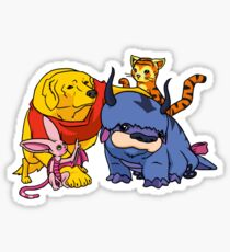 Naga the Poohlar Bear Dog & Friends Sticker