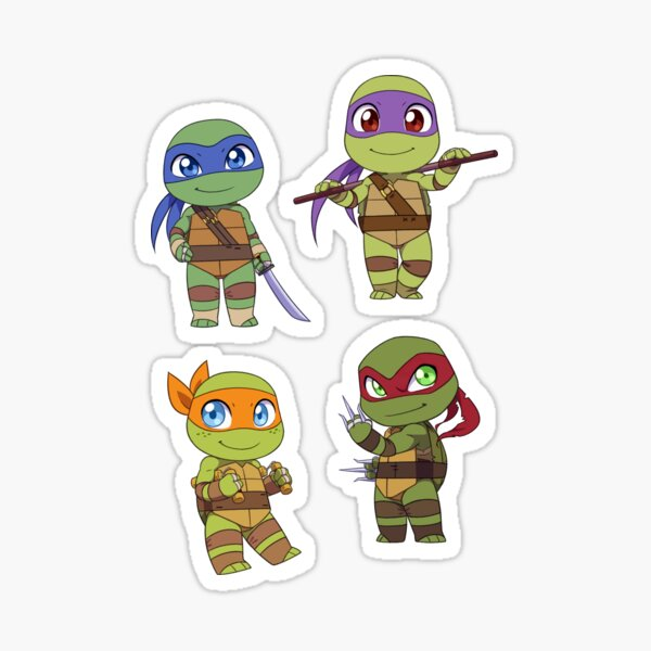 Chibi TMNT Sticker Set Sticker