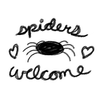 Spiders Welcome Sketch by spiderly