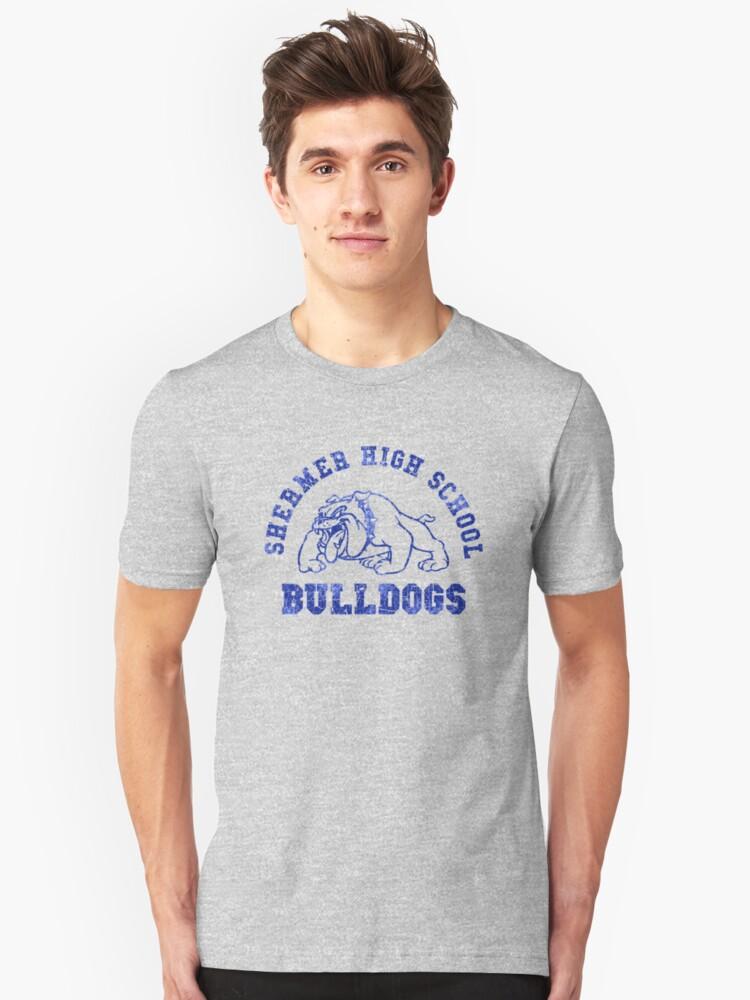 Shermer High School (Ferris Bueller, Sixteen Candles, Weird Science, Breakfast Club) Unisex T-Shirt Front