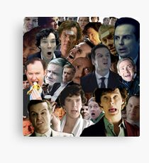 Sherlock Collage Canvas Print