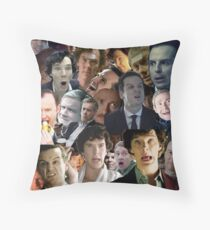Sherlock Collage Throw Pillow