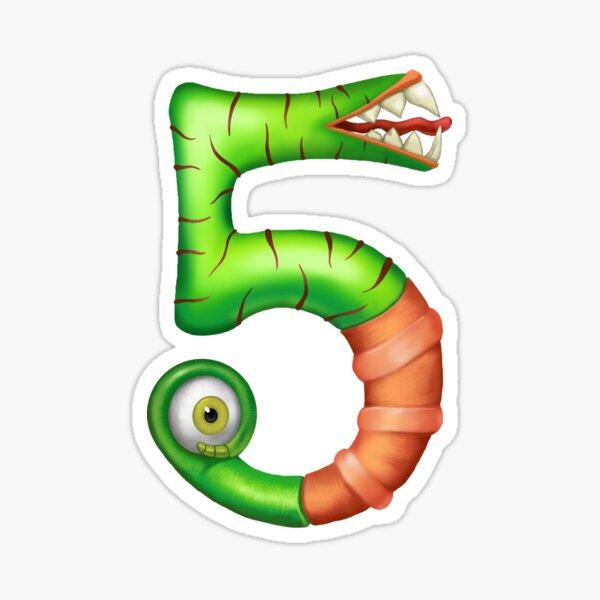 Monster Number 5 Sticker