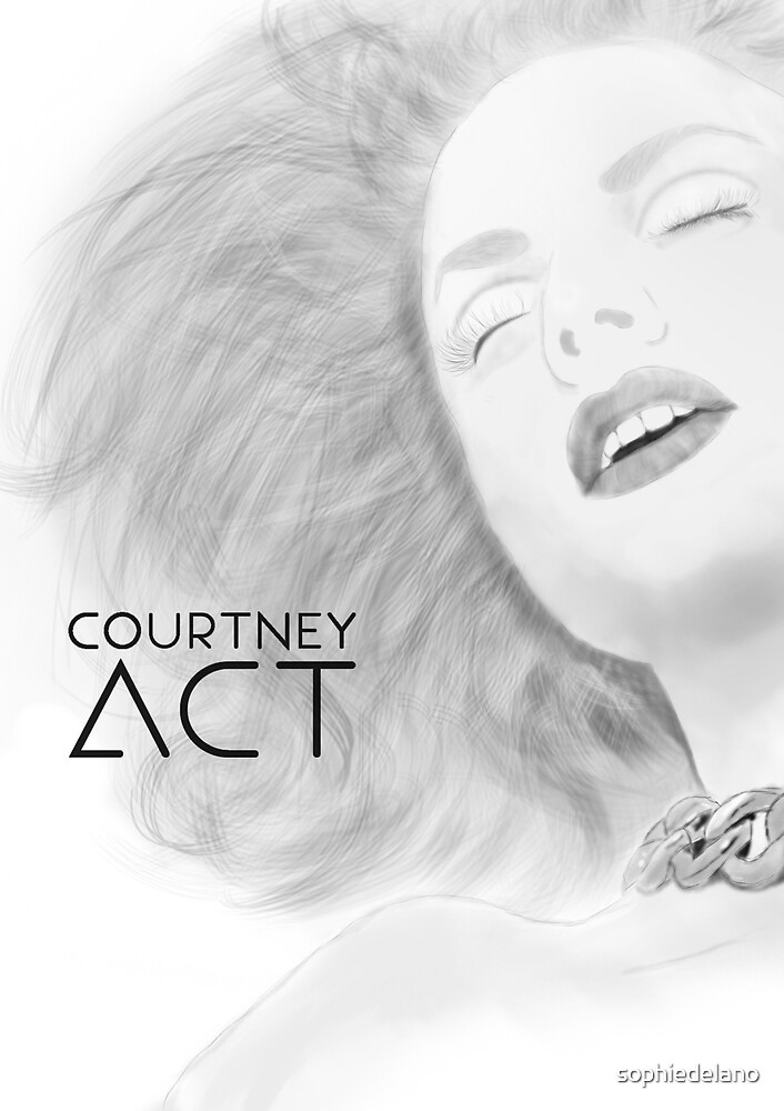 Courtney act drawing by sophiedelano
