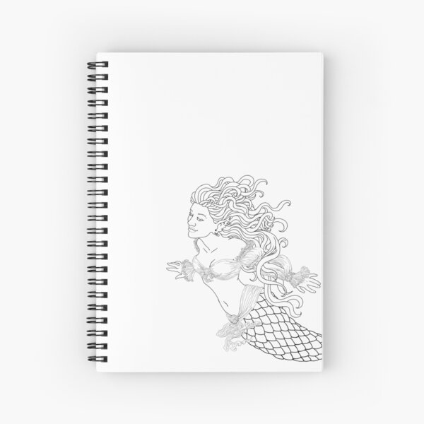 Pirate Mermaid Spiral Notebook