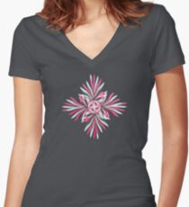 Cold Winter Con_Traption Women's Fitted V-Neck T-Shirt