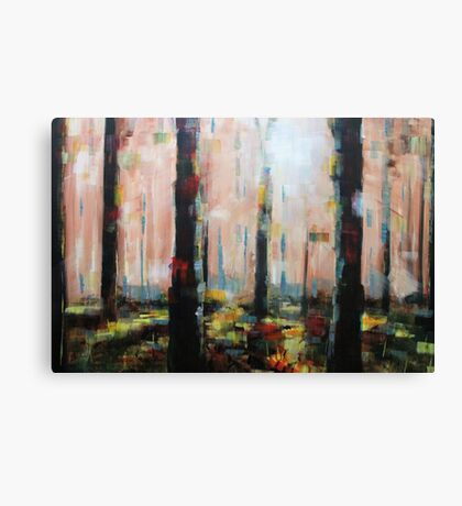 Abstract Tree Forest Painting Canvas Print
