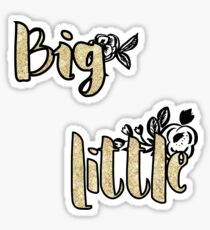 Big Little gold sticker  Sticker