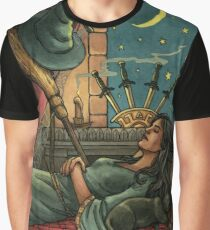 Everyday Witch Tarot - Four of Swords Graphic T-Shirt