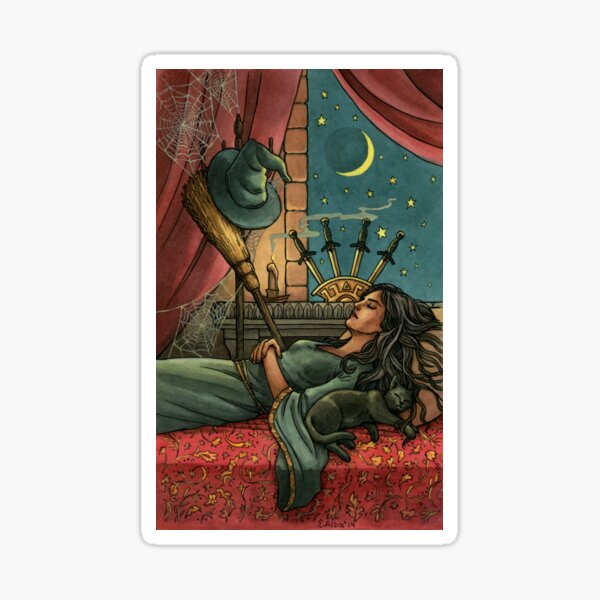 Everyday Witch Tarot - Four of Swords Sticker