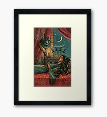 Everyday Witch Tarot - Four of Swords Framed Print