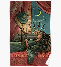 Everyday Witch Tarot - Four of Swords Poster