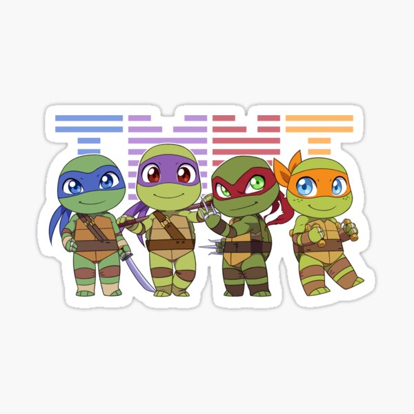 Chibi Heroes in a Half-Shell Sticker