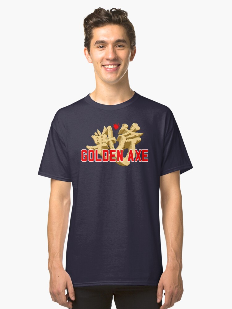Golden Axe (Genesis Title Screen) Classic T-Shirt Front