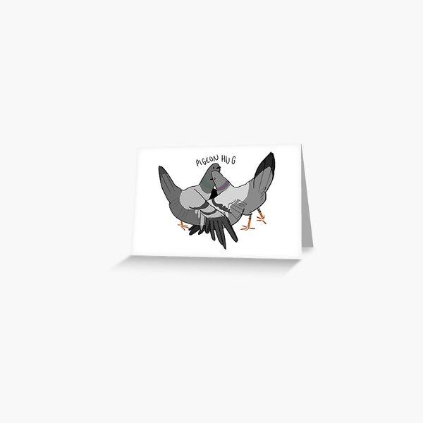 animal print invitations cute pigeon Pigeon digital artwork postcards Christmas present pigeon print greeting cards
