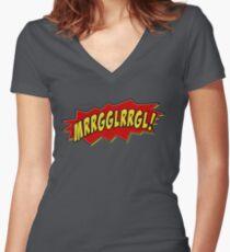 Murloc War Cry Women's Fitted V-Neck T-Shirt