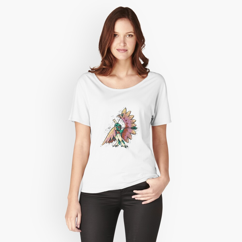 Decidueye Colorstudy Women's Relaxed Fit T-Shirt Front