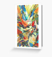 Iris Floral Abstract Design Greeting Card