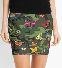 butterfly camouflage Mini Skirt