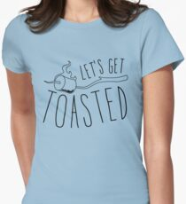 Let's get toasted (smores) Womens Fitted T-Shirt