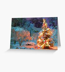 Snowy Christmas Tree Greeting Card