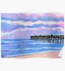 Flagler Beach Pier Poster