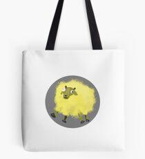 The Cosmic-Creates Yellow Sheep Tote Bag