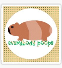 Everybody Poops Sticker