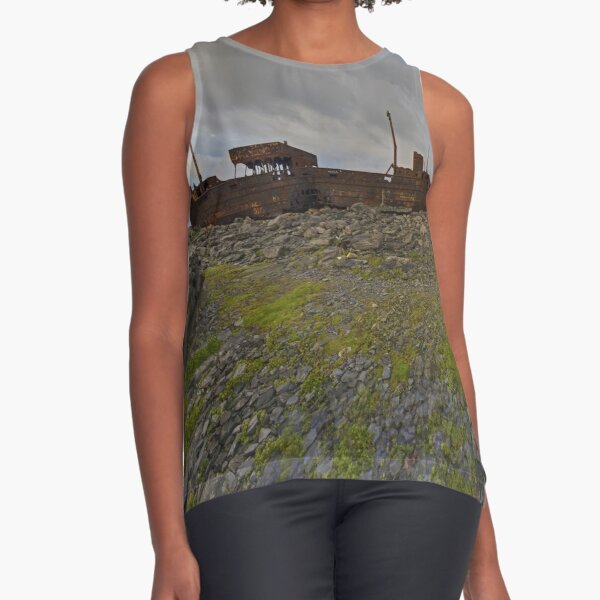 The Plassey - a wrectangular view Sleeveless Top