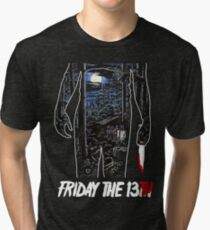 Friday the 13th Movie Poster Tri-blend T-Shirt