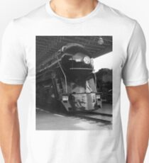 Norfolk and Western 611 Steam Train Black and White Unisex T-Shirt