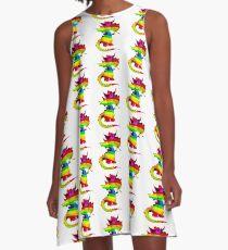 Rainbow Draco the Dragon  A-Line Dress