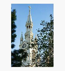 Saints Peter and Paul Church White Glow Through the Trees Photographic Print