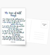 The Peace of Wild Things Postcards