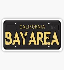 Bay Area California Old School Sticker