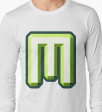 The Letter M - Green 3D Long Sleeve T-Shirt