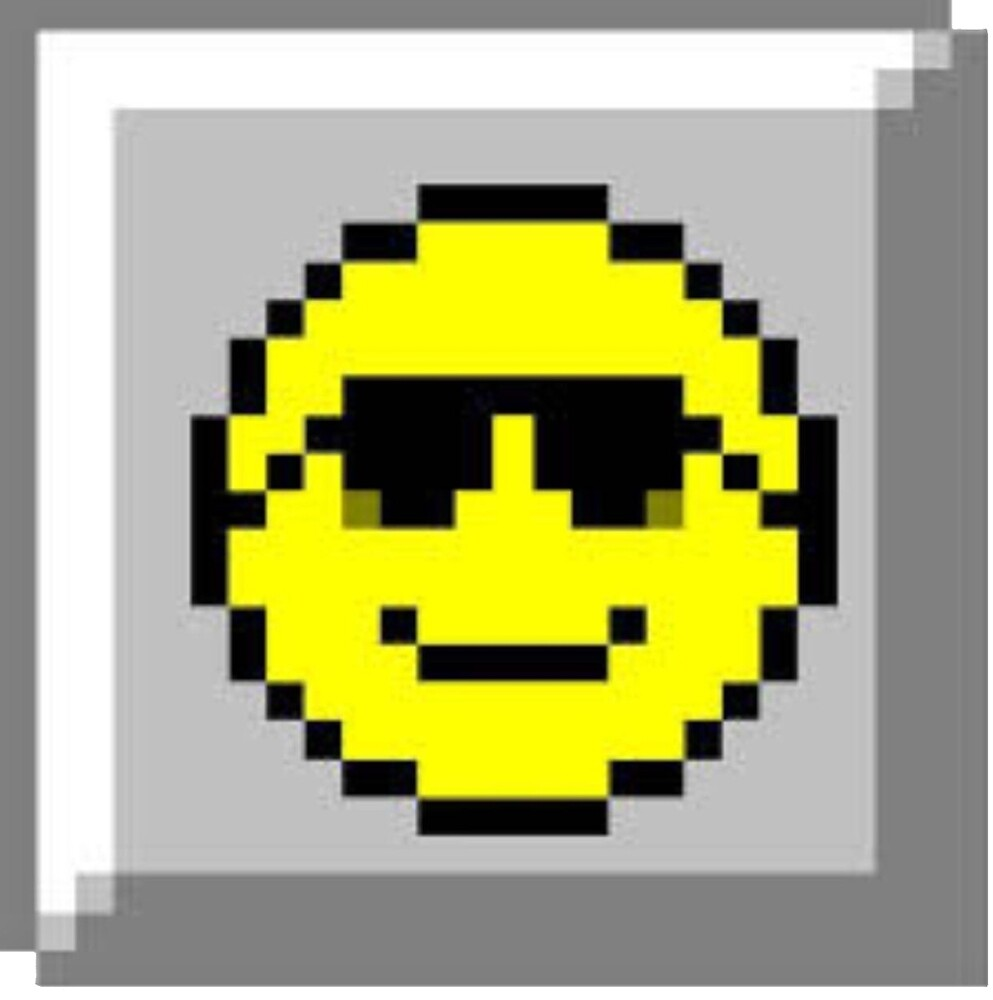 Minesweeper Retro Smiley Face by maybeoffensive