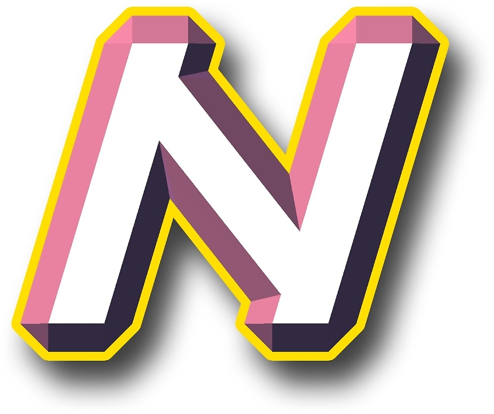The Letter N - Pink 3D by Thomas Olsen