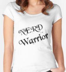 NERD WARRIOR Women's Fitted Scoop T-Shirt