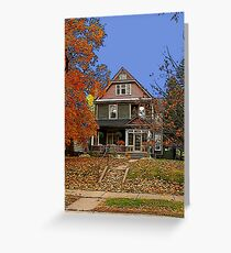 Autumn at Home, Duluth Minnesota Greeting Card
