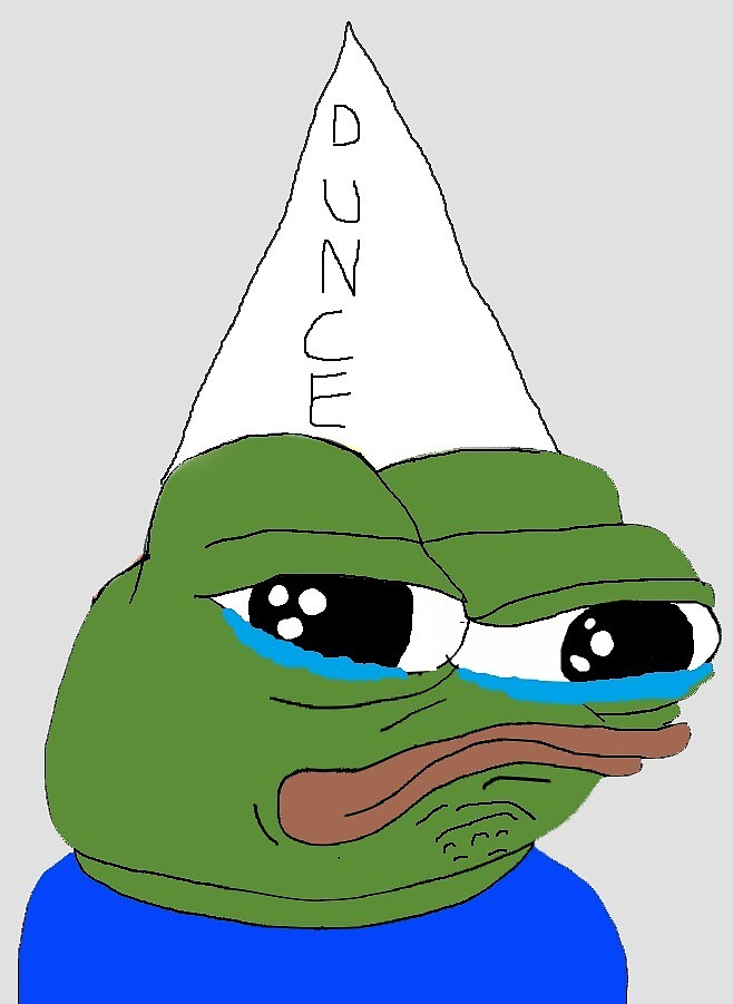 Dunce Pepe by mikeconnor