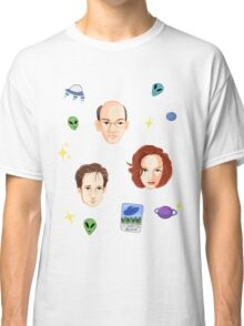 X Files - FBI Agents Classic T-Shirt