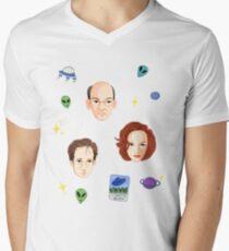 X Files - FBI Agents Mens V-Neck T-Shirt