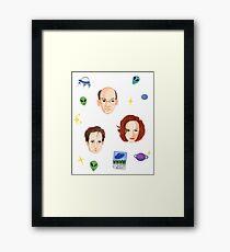 X Files - FBI Agents Framed Print