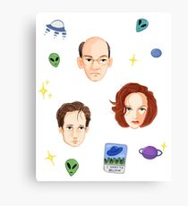 X Files - FBI Agents Canvas Print