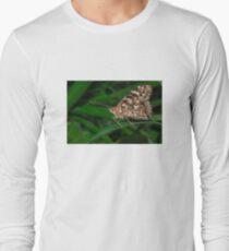 Common Buckeye  (Junonia coenia) butterfly Long Sleeve T-Shirt